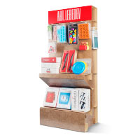 Folding display stand for studio products