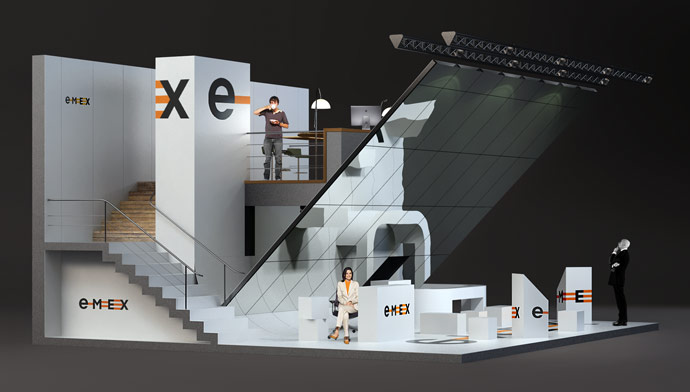 D Exhibition Stands : Emex exhibition stand