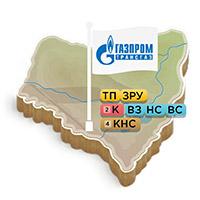Gazprom Energo branch maps