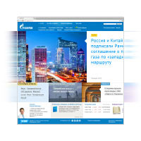 Gazprom website 2.0