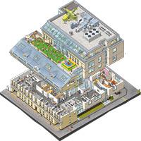 Innova illustrated isometric office plan