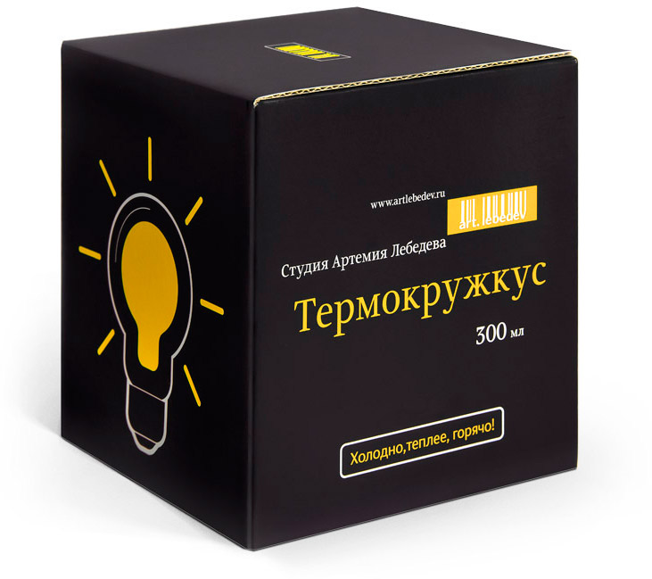 Lightbulb thermokruzhkus packaging