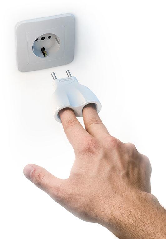 finger in electric socket